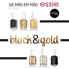 Black&Gold | Essie www.layout.com.pt/magazine