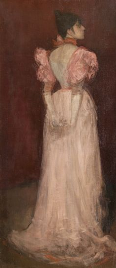 James McNeill Whistler, 'Rose et or: La Tulipe', James Abbott Mcneill Whistler, Art Nouveau, Art Uk, Art For Art Sake, Your Paintings, Beautiful Paintings, Figure Painting, American Artists, Figurative Art