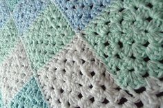 Ravelry: debbieredman's Granny in blue and mint squares