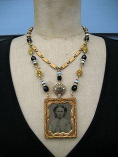 SALE Miss Mabel - An Antique Ambrotype Necklace AssemblageFrom rebecca3030