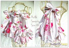 Ruffle Playsuit -custom orders welcome - butterflybes@bigpond.com