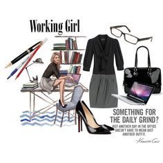 Working Girl, created by ellijelly93 on Polyvore