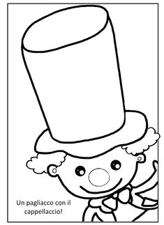 Mardi Gras, Educational Activities, Activities For Kids, Theme Carnaval, Clowns, Summer Humor, Cute Coloring Pages, Toddler Art, Hand Art