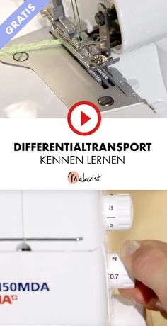 Gratis Video Differentialtransport kennen lernen für Nähanfänger - Makerist auf Youtube #nähenlernen #nähenmitmakerist #nähen #nähanleitung #schnittmuster #schnitt #pdfschnitt #pdfpattern #nähenmachtglücklich #nähenistwiezaubernkönnen #nähenisttoll #sewing #sew #sewingproject #sewingpattern #diy #diyproject #nähanfänger