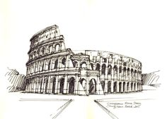 Colosseum, Rome, Italy / sketch by Joungyeon, Bahk (Grid-A architecture) grid-a.net
