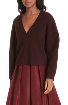 06e26b3c9a4914 Free shipping and returns on Tibi Sculpted Wool Blend Sweater at  Nordstrom.com. Finely knit for a sweatshirt feel