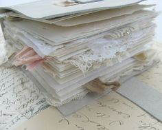 The Lace One -  White Leather Keepsake Book