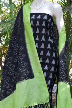 Ikkat Dupatta, Cotton Suit, Diy Dress, Indian Designer Wear, Hand Weaving, Ready To Wear, Kimono Top, Girls Dresses, Saree