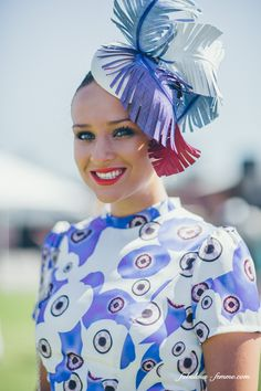 Melbourne Cup - Myer Fashions on the Field - Snaps Part 2 Millinery Hats, Fascinator Hats, Melbourne Cup Fashion, Tea Party Outfits, Race Day Outfits, Dresses For The Races, Spring Racing Carnival, Race Wear, Races Fashion