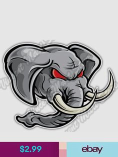 Statement Stickers & Decals Collectibles Elephant Face, Elephant Logo, Angry Face, Mexico Art, What To Draw, Evernote, Bullet Journal Inspiration, Dremel, Fairy Tail
