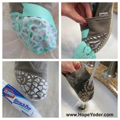 Wow what a great idea for 'custom' Toms! Shoe Crafts, Diy Craft Projects, Sewing Crafts, Craft Ideas, Printing On Burlap, Printing On Fabric, Shoe Makeover, Painted Toms, Felt Wreath
