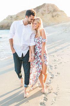 beach engagement session ideas - photo Britney Egner