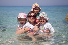 Playing around in the sea in Lefkas, Greece. Loving Lefkada with my girls.