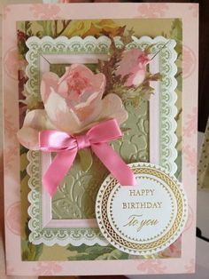 anna griffin images | Anna Griffin card with her patterned paper layers and roses