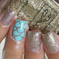 Mermaid nails ✴ The key to positive body image go to slim… Mermaid nails ✴ The key to positive body image go to slimmingbodyshape… for plus size shapewear and bras Get Nails, Fancy Nails, Love Nails, How To Do Nails, Pretty Nails, Hair And Nails, Mermaid Nail Art, Nagellack Trends, Beach Nails