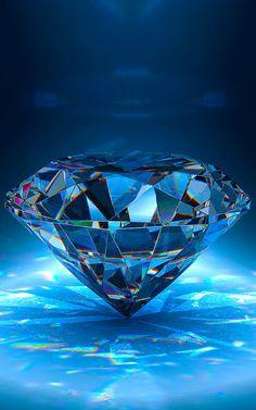 Blue Diamond Bright Wallpaper for iPhone High Resolution Wallpaper