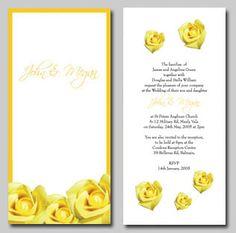 yellow wedding invitaitons Yellow Wedding Invitations, Place Cards, Wedding Decorations, Place Card Holders, Wedding Decor
