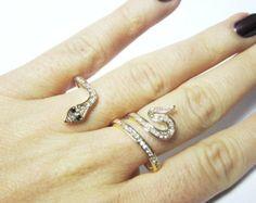 Snake Two Finger Ring