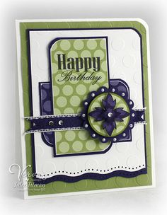 Also a good masculine card design. Cute Cards, Diy Cards, Happy Birthday Cards, Card Birthday, Birthday Ideas, Card Making Inspiration, Scrapbook Cards, Circle Scrapbook, Scrapbook Photos