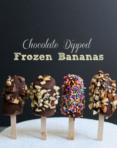How to Make Chocolate Dipped Frozen Bananas