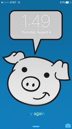 My custom #buyadrawing background for my iPhone 6. #iphone #background #iphone6 #cartoon #drawing #pig #cartoonist #illustrator #tech #ios #mac #apple #pig #pigbackground #phone #phonebackground