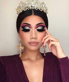 19 new Ideas dress green makeup make up Glam Makeup, Queen Makeup, Makeup Cosmetics, Dress Makeup, Gorgeous Makeup, Pretty Makeup, Makeup Trends, Makeup Ideas, Makeup Tips