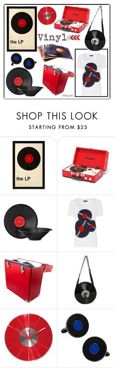 """Vinyl!"" by whirlypath ❤ liked on Polyvore featuring interior, interiors, interior design, home, home decor, interior decorating, Petit Bateau, NOVICA, Dot & Bo and kitchen"