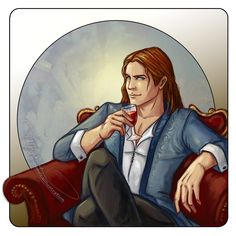 Arobynn Hamel from SJMaas' Queen of Shadows.This is how I imagine him sitting across from Aelin and Rowan watching them interact and planning his next move.