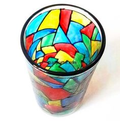 Stained Glass Painting Work - Tutorial • Art Platter