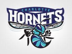 Charlotte Hornets Logo Concept by Lindsey Kellis Meredith