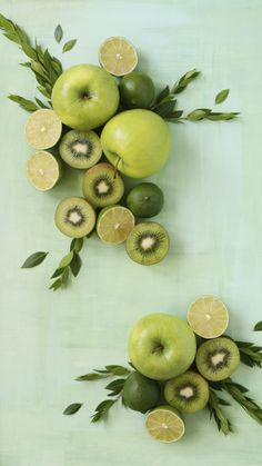 Apples kiwis green mint fruit fruity iphone wallpaper phone background lock screen
