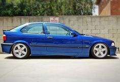 Avus blue bmw e36 compact on monoblock ac schnitzer wheels