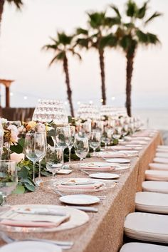 Glam beach front Mexico wedding: http://www.stylemepretty.com/destination-weddings/mexico-weddings/2016/07/05/hurricanes-forced-this-couple-to-postpone-their-wedding-three-times-but-it-was-so-worth-it/ | Photography: Cali Frankovic Photography - http://califrankovic.com/