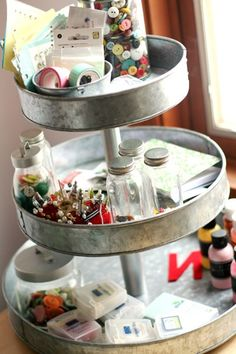 lazy susan, craft supplies, the craft, cake stands, scrapbook, craft storage, pottery barn, cake pans, craft rooms