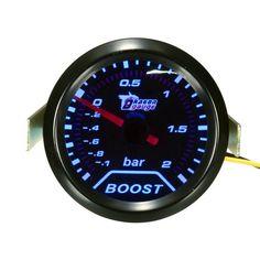 2inch 52mm Universal Car Auto LED Turbo Boost Vacuum Press Gauge Meter Bar Pointer