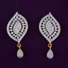 Gorgeous American Diamond studded Earrings, to make you look stunning! www.shreehari.co/... #AD #AmericanDiamond #Earrings