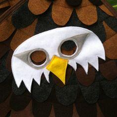 Weißkopfseeadler Maske / Eagle Maske / Mask Filz von TreeAndVine