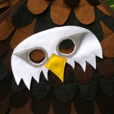 Bald Eagle Mask / Eagle Mask / Felt Mask by TreeAndVine on Etsy