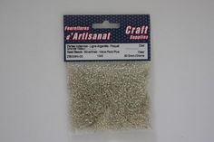 ZB009N-00 Seed Beads 10/0 Silverlined Clear 60 Grams