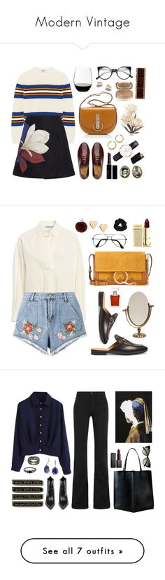 """Modern Vintage"" by green-wild ❤ liked on Polyvore featuring MSGM, Sportmax Code, FitFlop, Nina Ricci, Riedel, Dolce&Gabbana, Witchery, Daniel Wellington, Blumarine and House of Holland"