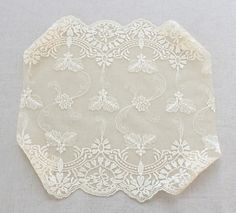 1yard wide embroidered mesh lace  width 27 cm light by cottonholic, $12.00