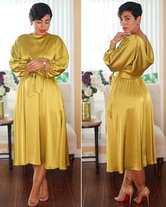 Prim and Proper Classy Dress, Classy Outfits, Pretty Outfits, Pretty Dresses, Beautiful Dresses, Latest African Fashion Dresses, African Dresses For Women, African Attire, Frock Fashion