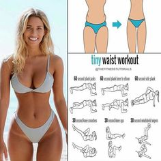 The Best Bodybuilding Workouts Program: The Most Efficient Workout Program For Weight Loss Fitness Workouts, Fitness Motivation, Fitness Goals, Fitness Tips, Motivation Quotes, Tiny Waist Workout, Hip Workout, Workout Tips, Pinterest Workout