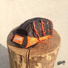 #Gloveoworks Sparkling Orange - Only available in limited amount. Please message us for details. Gloveworks is your custom baseball glove maker.