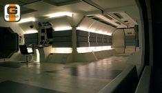 Gavin Rothery - Directing - Concept - VFX - Sarang Facility - Main Corridor Junction Lighting Test