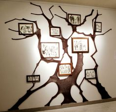 'family tree' - lithography with knitting, by amandajocrafts