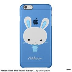 Personalized Blue Kawaii Bunny Clear iPhone 6 Case Uncommon Clearly™ Deflector iPhone 6 Plus Case
