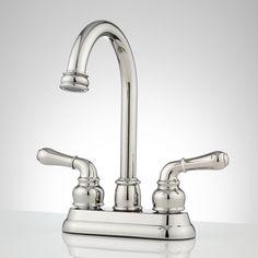 Brannigan Centerset Gooseneck Bathroom Faucet - Overflow - Chrome