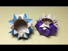 Origami Gift Box Instructions - YouTube
