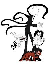Slenderman, Jeff The Killer, Smile dog, and BEN be all things I know, and you should too. (pastamonsters)